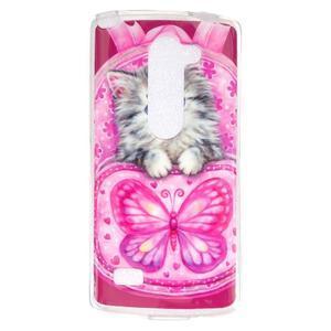 Jelly gelový obal na mobil LG Leon - koťátko - 1