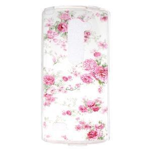 Jelly gélový obal pre mobil LG Leon - kvetiny - 1
