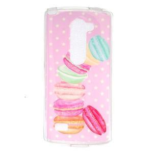 Jelly gelový obal na mobil LG Leon - makrónky - 1
