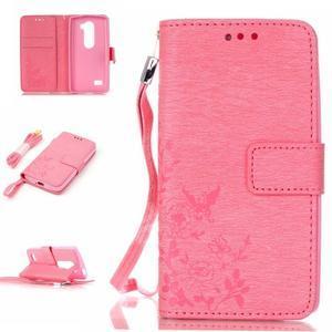 Magicfly pouzdro na mobil LG Leon - růžové - 1