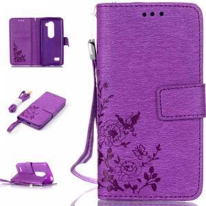 Magicfly puzdro pre mobil LG Leon - fialové - 1
