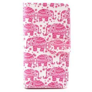 Style peňaženkové puzdro pre LG Leon - sloni - 1
