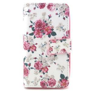 Style peňaženkové puzdro pre LG Leon - kvetiny - 1