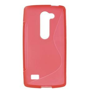 S-line gélový obal pre mobil LG Leon - červený - 1