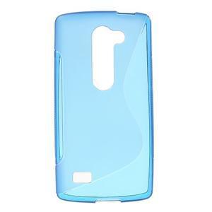 S-line gélový obal pre mobil LG Leon - modrý - 1