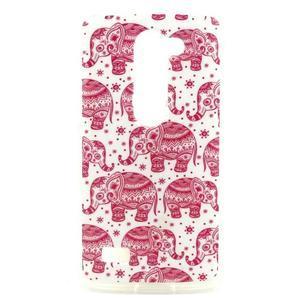 Pictu gélový obal pre LG Leon - ružoví sloni - 1