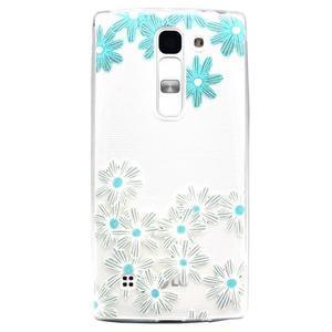 Transparentný gélový obal pre mobil LG Spirit - sedmokrásky - 1