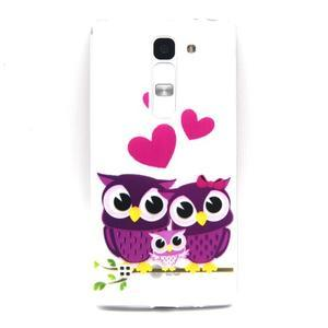 Transparentní gélový obal na mobil LG Spirit - zamilované sovičky - 1