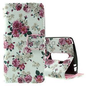 Peňaženkové puzdro pre LG Spirit - ruže - 1