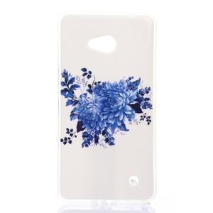 Softy gélový obal pre mobil Microsoft Lumia 640 LTE - kvetinová koláž - 1