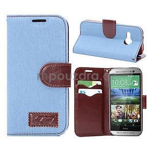 Jeans peňanžekové puzdro pre HTC One Mini 2 - svetlomodre - 1