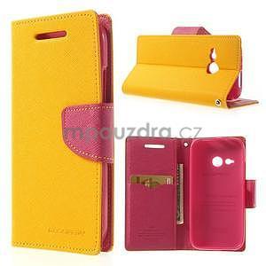 Style peňaženkové puzdro HTC One Mini 2 - žlté - 1