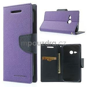 Style peňaženkové puzdro HTC One Mini 2 - fialové - 1