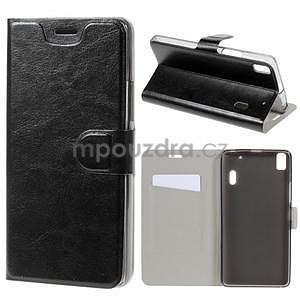 Hardy peňaženkové puzdro pre Lenovo A7000 a Lenovo K3 Note - čierne - 1