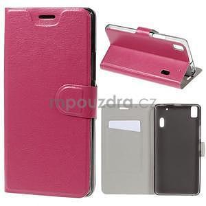 Hardy peňaženkové puzdro na Lenovo A7000 a Lenovo K3 Note - rose - 1