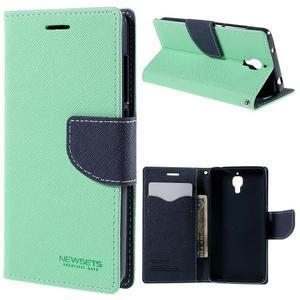 Mr. Fancy peňaženkové puzdro na Xiaomi Mi4 - azurové - 1