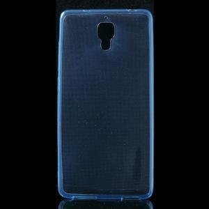 Ultratenký slim gélový obal pre Xiaomi Mi4 - modrý - 1