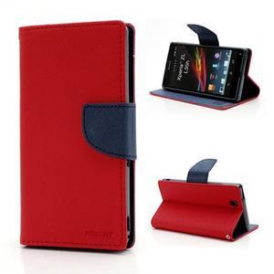 Mr. Goos peňaženkové puzdro na Sony Xperia Z - červené - 1