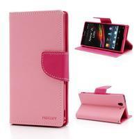 Mr. Goos peňaženkové puzdro pre Sony Xperia Z - ružové - 1/7