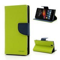 Mr. Goos peňaženkové puzdro pre Sony Xperia Z - zelené - 1/6