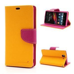 Mr. Goos peňaženkové puzdro pre Sony Xperia Z - žlté - 1