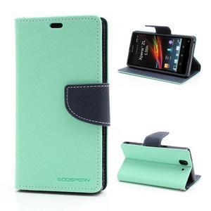 Mr. Goos peňaženkové puzdro na Sony Xperia Z - azurové - 1