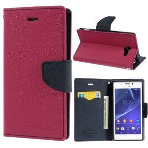 Mr. Goos peňaženkové puzdro na Sony Xperia M2 - rose - 1