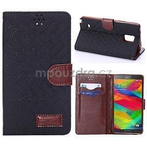 Elegantné peňaženkové puzdro pre Samsung Galaxy Note 4 - čierne - 1