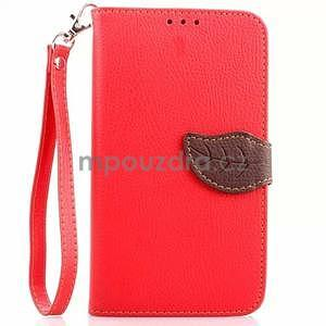 Peňaženkové puzdro s pútkom na Samsung Galaxy Note 4 - červené - 1