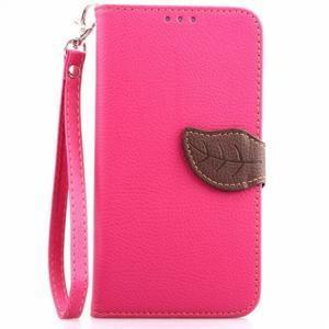 Peňaženkové puzdro s pútkom na Samsung Galaxy Note 4 - rose - 1