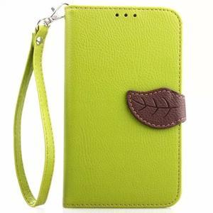 Peňaženkové puzdro s pútkom na Samsung Galaxy Note 4 -  zelené - 1