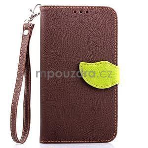 Peňaženkové puzdro s pútkom na Samsung Galaxy Note 4 - hnedé - 1