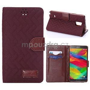 Elegantní penženkové puzdro pre Samsung Galaxy Note 4 - vínové - 1