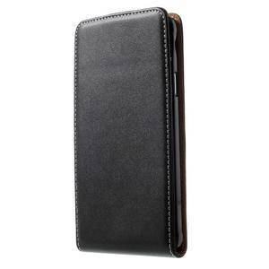 Flipové puzdro pre Samsugn Galaxy Note 4 - čierne - 1