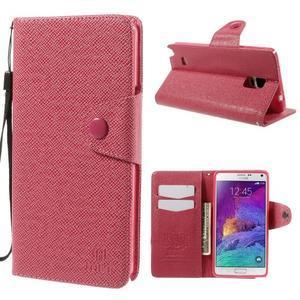 Zapínací peneženkové poudzro Samsung Galaxy Note 4 -rose - 1