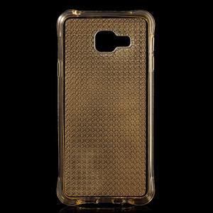 Diamonds gelový obal na Samsung Galaxy A3 (2016) - zlatý - 1