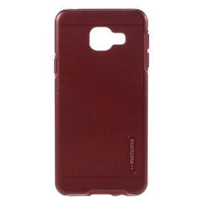 Odolný ochranný obal 2v1 pre mobil Samsung Galaxy A3 (2016) - červený - 1