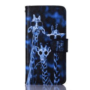 Standy peňaženkové puzdro pre Samsung Galaxy Core Prime - žirafí mafie - 1