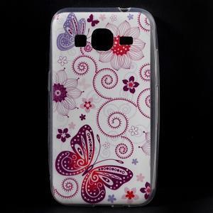 Ultratenký slim obal pre Samsung Galaxy Core Prime - motýlek - 1