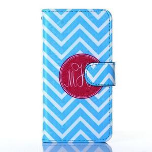 Standy peňaženkové puzdro pre Samsung Galaxy Core Prime - modrý vzor - 1