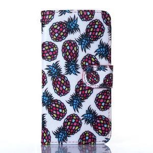Standy peňaženkové puzdro pre Samsung Galaxy Core Prime - ananasy - 1