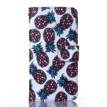 Standy peňaženkové puzdro pre Samsung Galaxy Core Prime - ananasy - 1/5