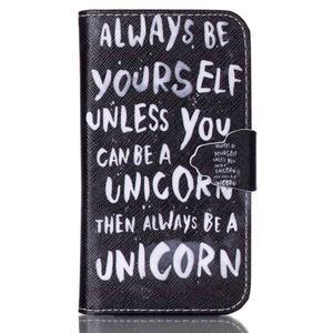 Emotive peňaženkové puzdro pre Samsung Galaxy Core Prime - unicorn - 1