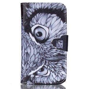 Emotive peňaženkové puzdro pre Samsung Galaxy Core Prime - sova - 1