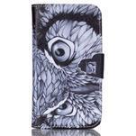 Emotive peňaženkové puzdro pre Samsung Galaxy Core Prime - sova - 1/6