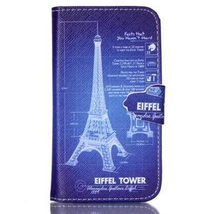 Emotive peňaženkové puzdro pre Samsung Galaxy Core Prime - Eiffelova veža - 1