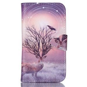 Emotive peňaženkové puzdro pre Samsung Galaxy Core Prime - mystický jelen - 1
