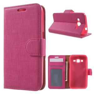 Clothy peněženkové pouzdro na Samsung Galaxy Core Prime - rose - 1