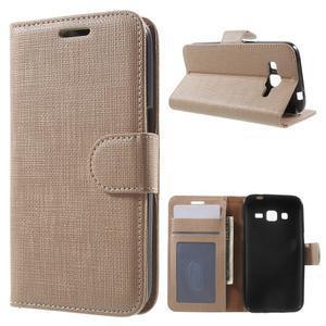 Clothy peňaženkové puzdro pre Samsung Galaxy Core Prime - champagne - 1