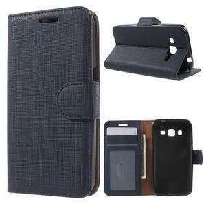 Clothy peněženkové pouzdro na Samsung Galaxy Core Prime - tmavěmodré - 1
